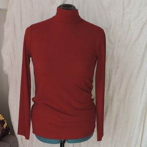 Lands End Turtle Mock Neck Long Sleeve Wide Ribbed